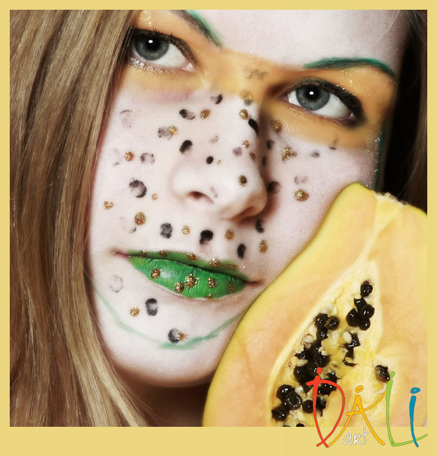 Facepainting foto papaya